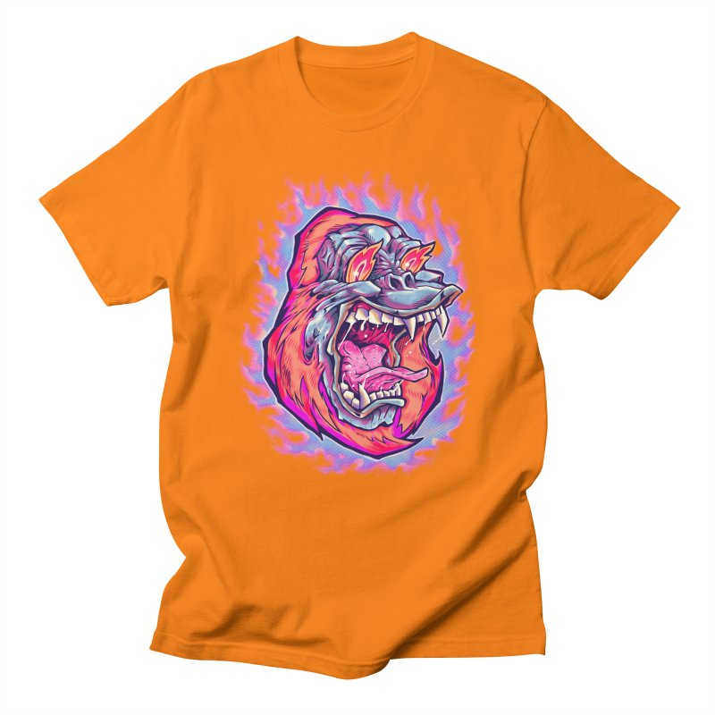Burning Ape Men's Regular T-Shirt by villainmazk's Artist Shop