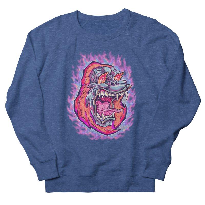 Burning Ape Women's French Terry Sweatshirt by villainmazk's Artist Shop