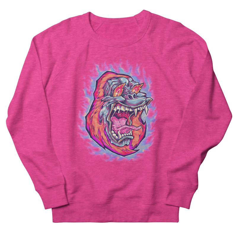 Burning Ape Women's Sweatshirt by villainmazk's Artist Shop