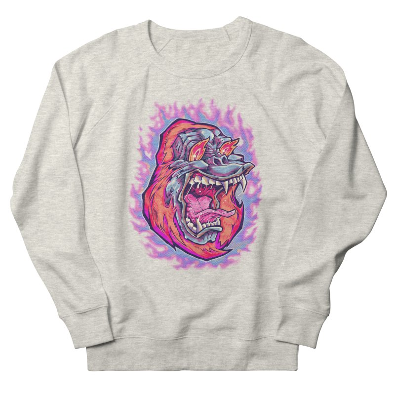 Burning Ape Women's French Terry Sweatshirt by villainmazk's Artist Shop