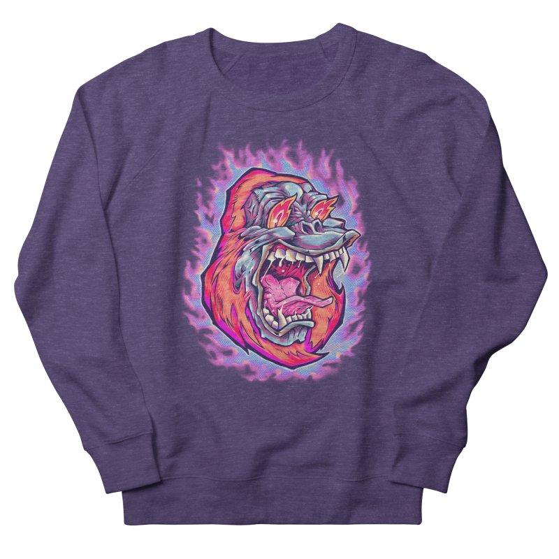 Burning Ape Men's Sweatshirt by villainmazk's Artist Shop