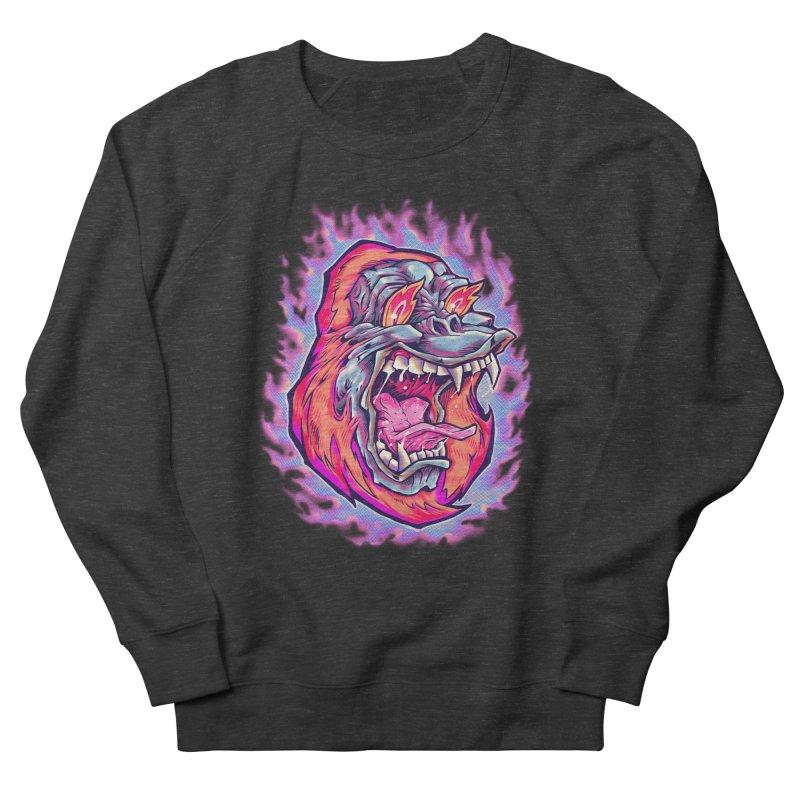 Burning Ape Men's French Terry Sweatshirt by villainmazk's Artist Shop