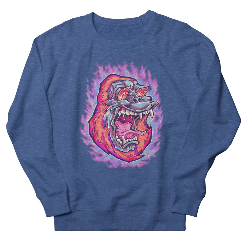 Burning Ape Men's Sweatshirt by villainmazk's Artist Shop