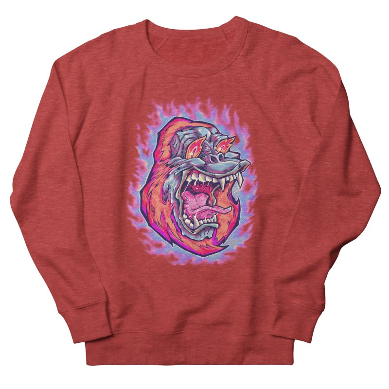 Burning Ape Men's French Terry Sweatshirt by villainmazk's Artist Shop