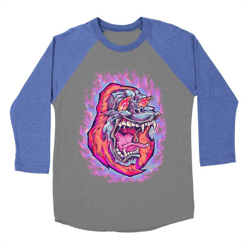 Burning Ape Men's Baseball Triblend Longsleeve T-Shirt by villainmazk's Artist Shop