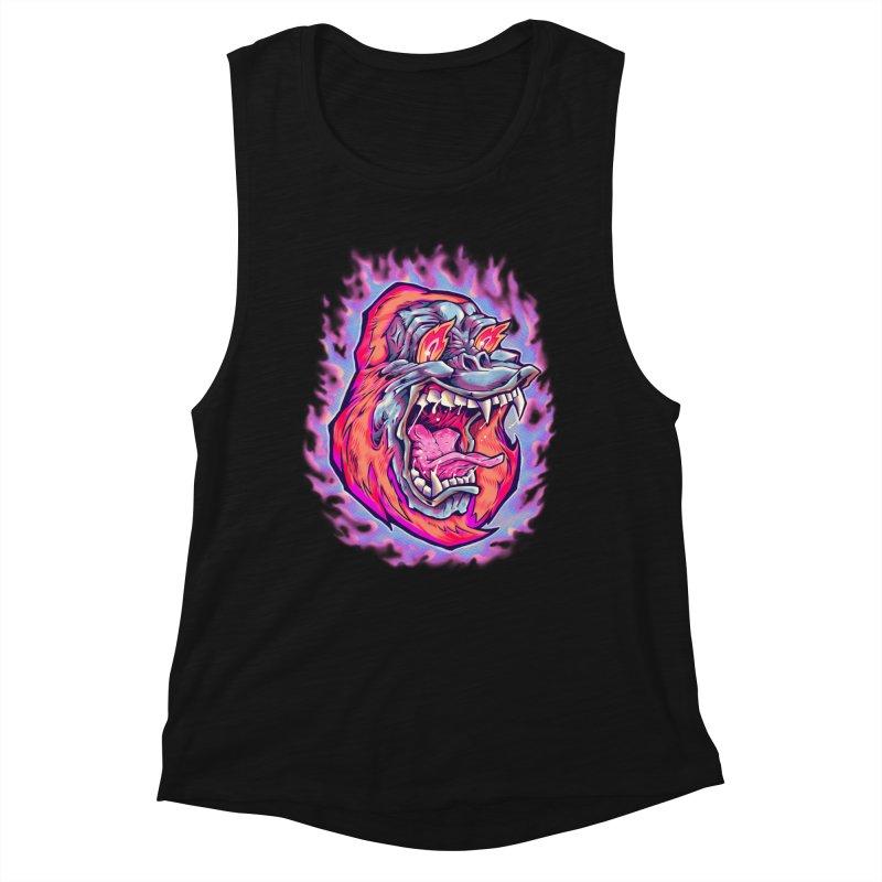 Burning Ape Women's Tank by villainmazk's Artist Shop