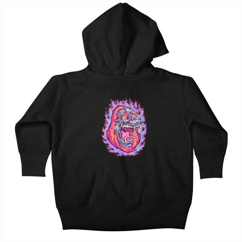 Burning Ape Kids Baby Zip-Up Hoody by villainmazk's Artist Shop