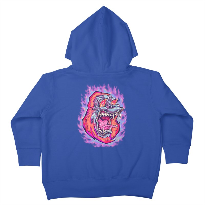 Burning Ape Kids Toddler Zip-Up Hoody by villainmazk's Artist Shop