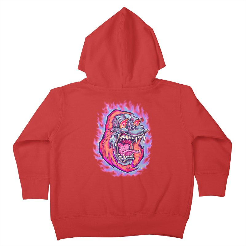 Burning Ape Kids Toddler Zip-Up Hoody by villainmazk's Artist Shop