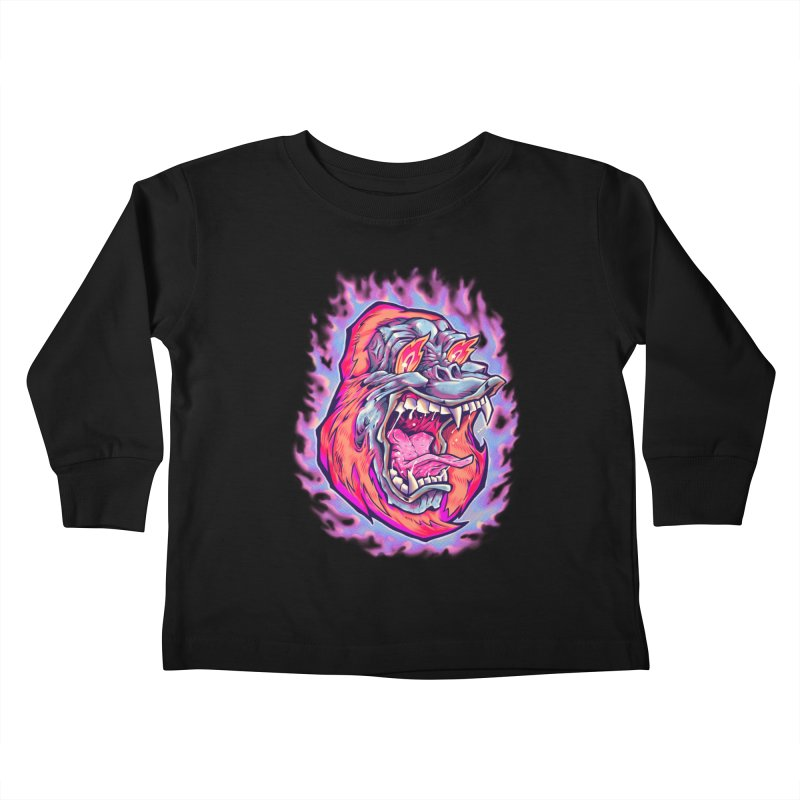 Burning Ape Kids Toddler Longsleeve T-Shirt by villainmazk's Artist Shop