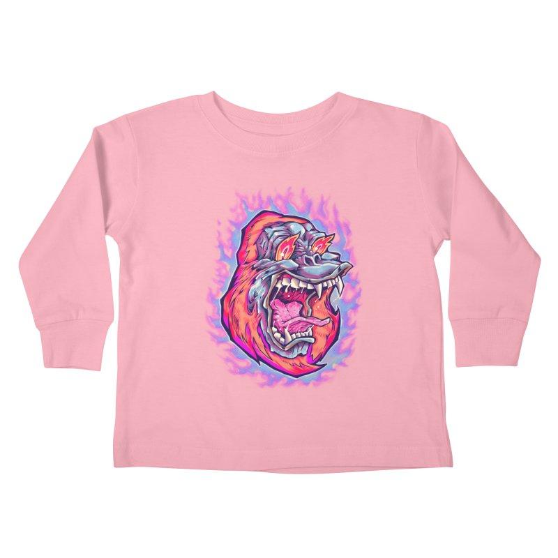 Burning Ape Kids Toddler Longsleeve T-Shirt by villainmazk's Artist Shop