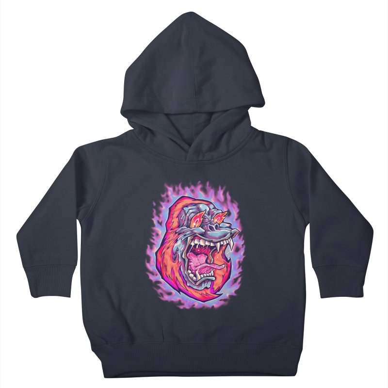 Burning Ape Kids Toddler Pullover Hoody by villainmazk's Artist Shop