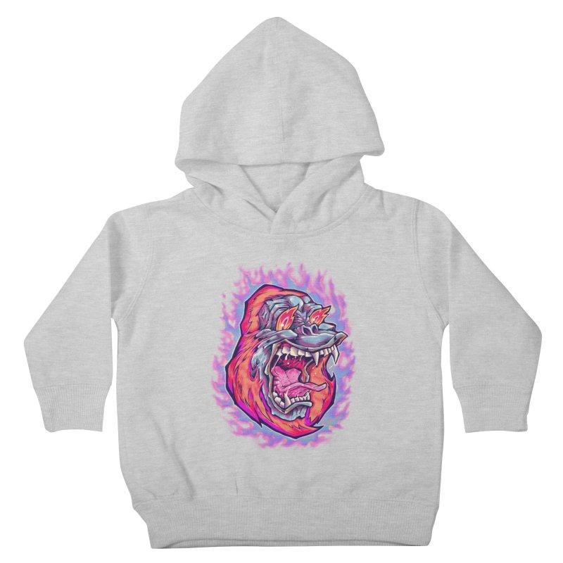 Burning Ape Kids Toddler Pullover Hoody by villainmazk's Artist Shop