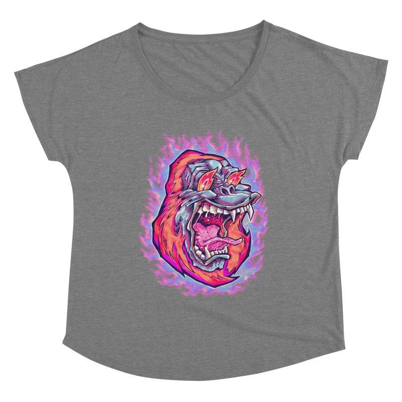 Burning Ape Women's Scoop Neck by villainmazk's Artist Shop