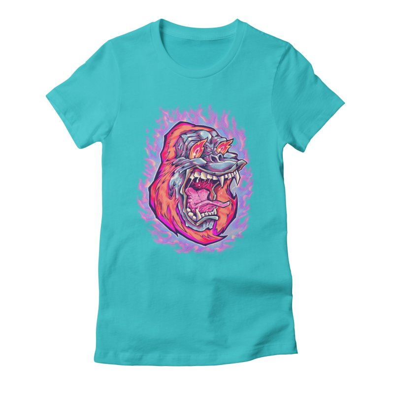 Burning Ape Women's T-Shirt by villainmazk's Artist Shop