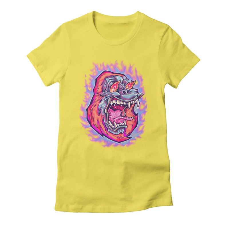 Burning Ape Women's T-Shirt by villainmazk's Artist Shop