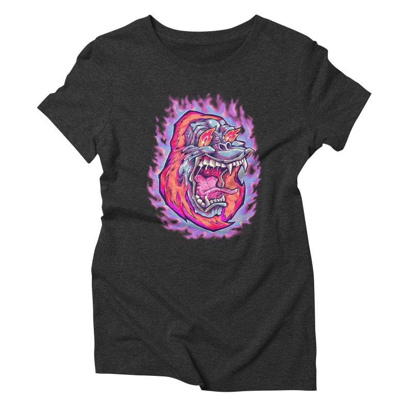 Burning Ape Women's Triblend T-Shirt by villainmazk's Artist Shop