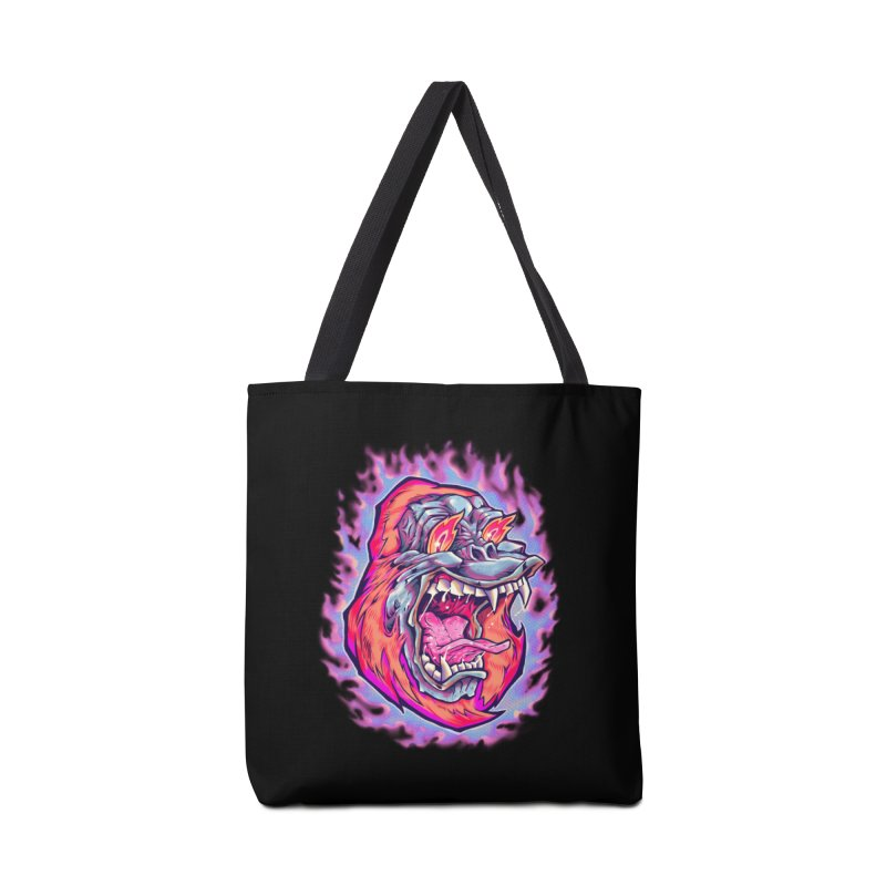 Burning Ape Accessories Tote Bag Bag by villainmazk's Artist Shop