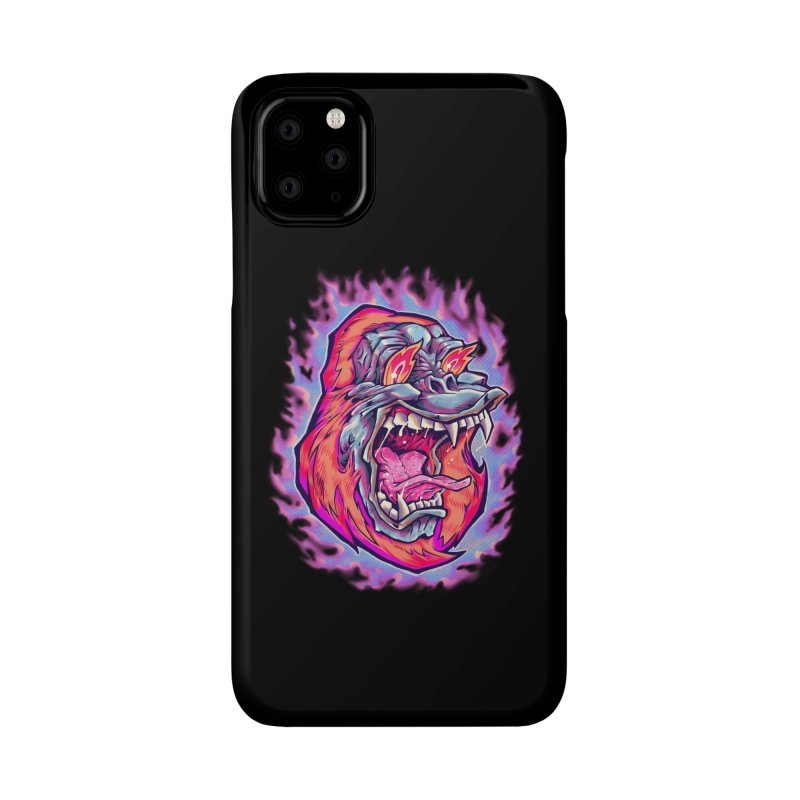 Burning Ape Accessories Phone Case by villainmazk's Artist Shop
