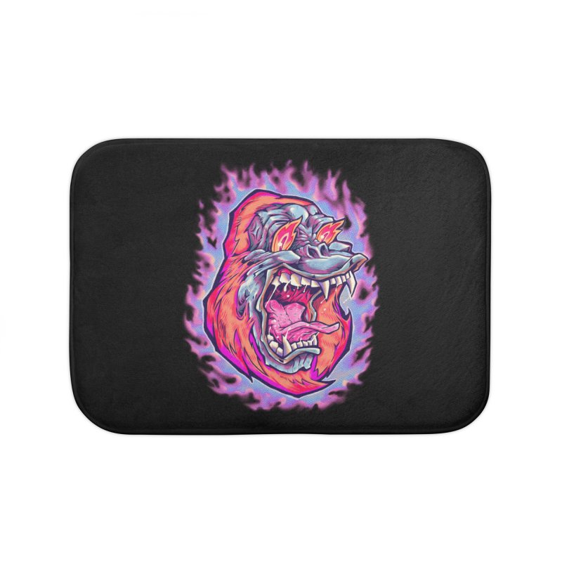 Burning Ape Home Bath Mat by villainmazk's Artist Shop