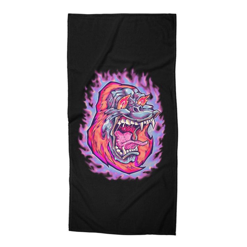 Burning Ape Accessories Beach Towel by villainmazk's Artist Shop