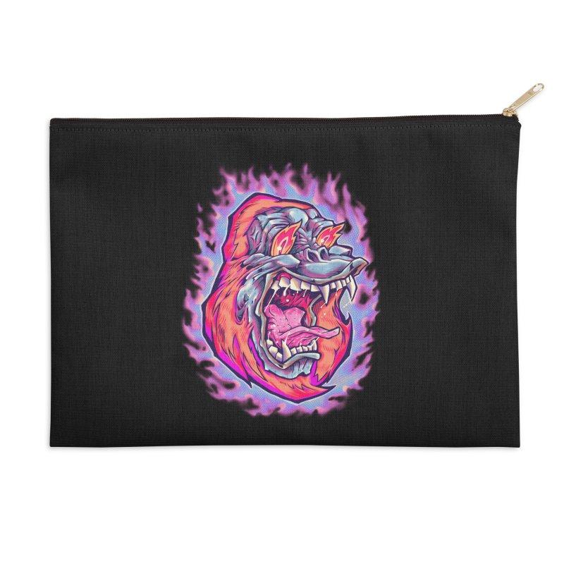 Burning Ape Accessories Zip Pouch by villainmazk's Artist Shop