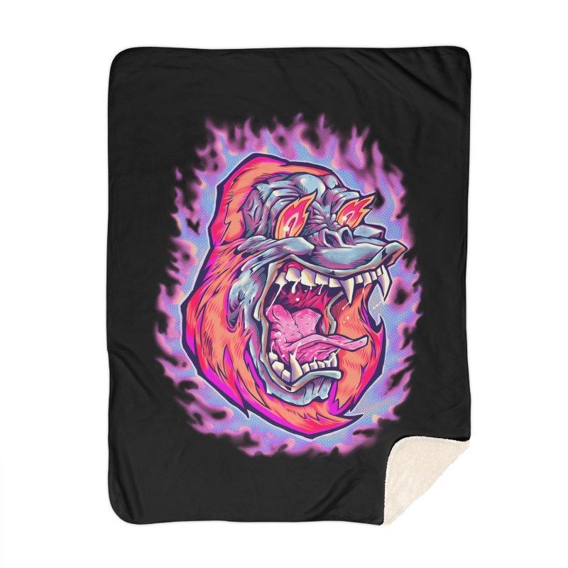 Burning Ape Home Blanket by villainmazk's Artist Shop