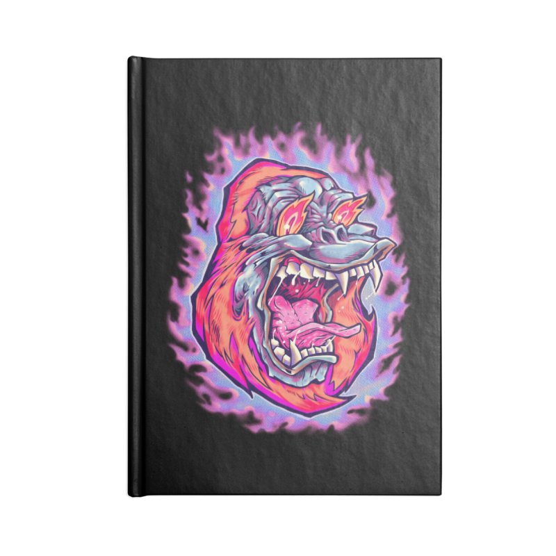 Burning Ape Accessories Notebook by villainmazk's Artist Shop