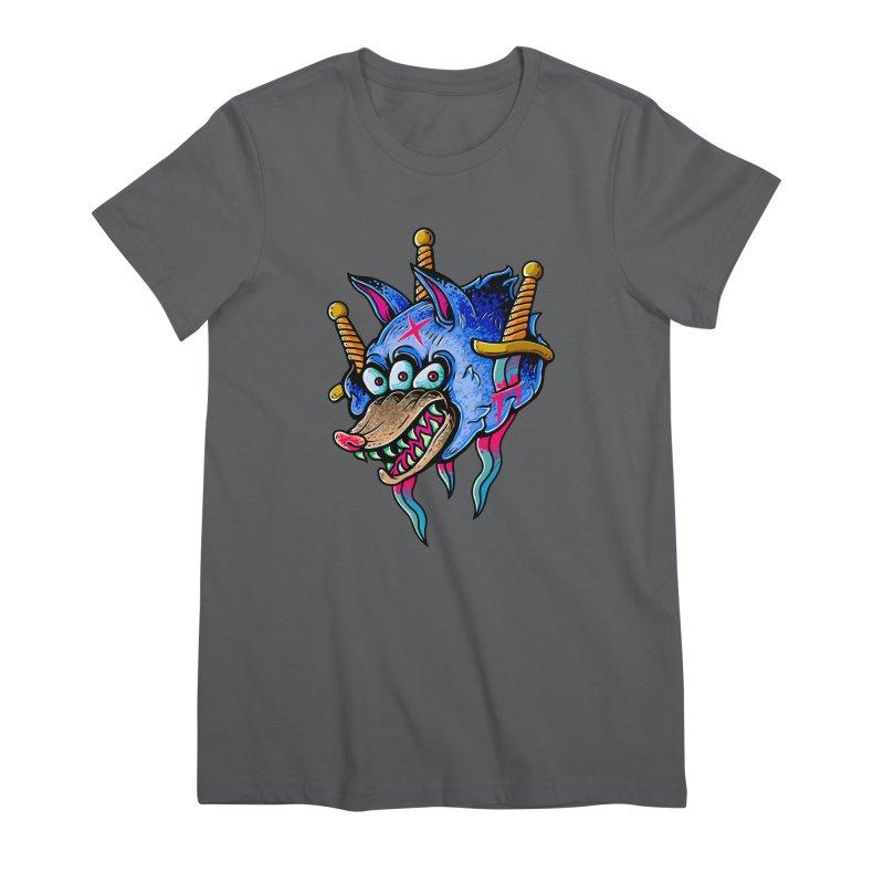 Evil Wolf Women's T-Shirt by villainmazk's Artist Shop