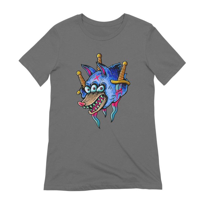 Evil Wolf Women's Extra Soft T-Shirt by villainmazk's Artist Shop