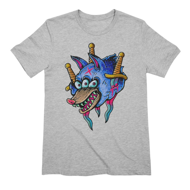 Evil Wolf Men's T-Shirt by villainmazk's Artist Shop