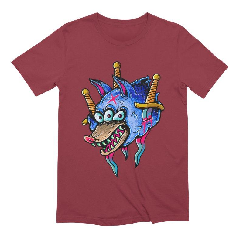 Evil Wolf Men's Extra Soft T-Shirt by villainmazk's Artist Shop