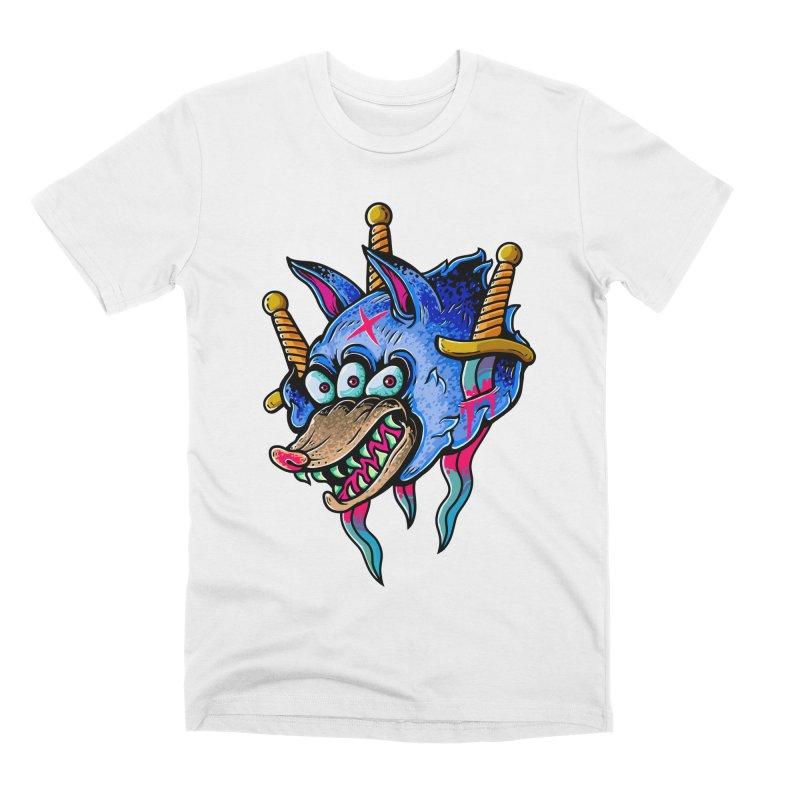 Evil Wolf Men's Premium T-Shirt by villainmazk's Artist Shop