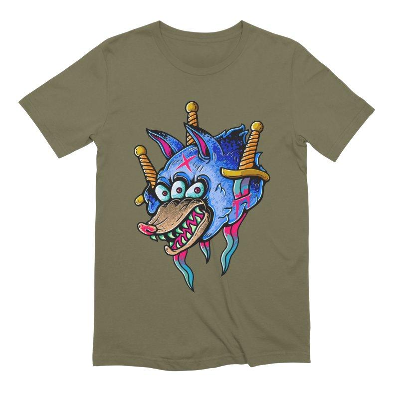 Evil Wolf Men's T-Shirt by villainmazk's Artist Shop