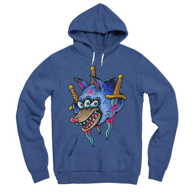 Evil Wolf Men's Sponge Fleece Pullover Hoody by villainmazk's Artist Shop