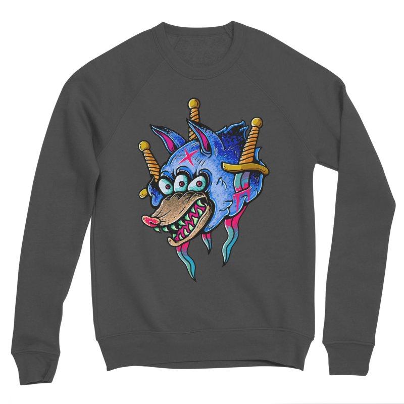 Evil Wolf Men's Sponge Fleece Sweatshirt by villainmazk's Artist Shop