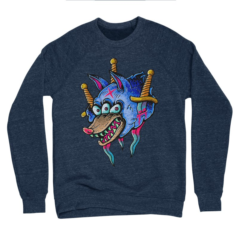 Evil Wolf Men's Sponge Fleece Sweatshirt by villainmazk's Artist Shop