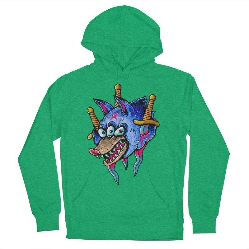 Evil Wolf Women's French Terry Pullover Hoody by villainmazk's Artist Shop