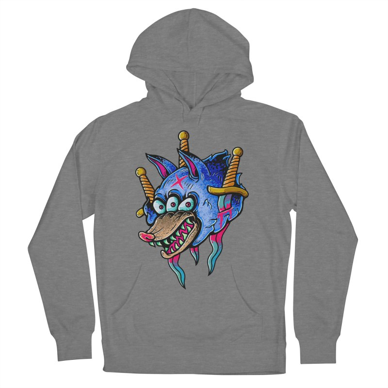 Evil Wolf Men's French Terry Pullover Hoody by villainmazk's Artist Shop