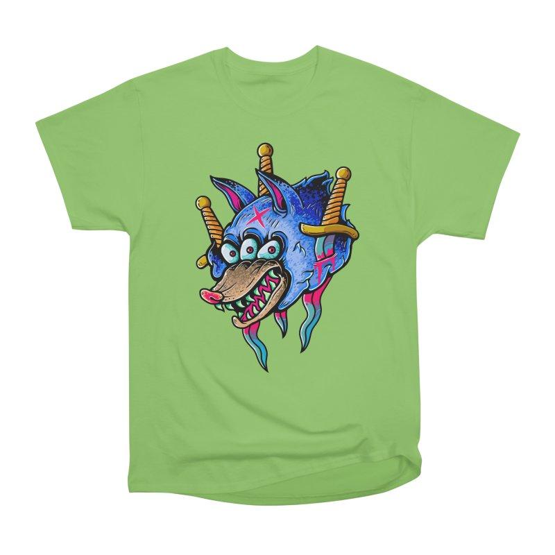 Evil Wolf Women's Heavyweight Unisex T-Shirt by villainmazk's Artist Shop