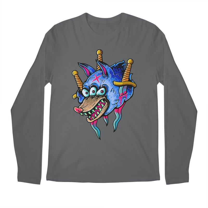 Evil Wolf Men's Longsleeve T-Shirt by villainmazk's Artist Shop