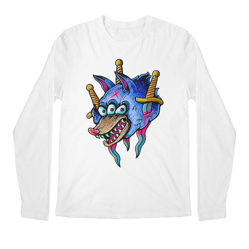 Evil Wolf Men's Regular Longsleeve T-Shirt by villainmazk's Artist Shop