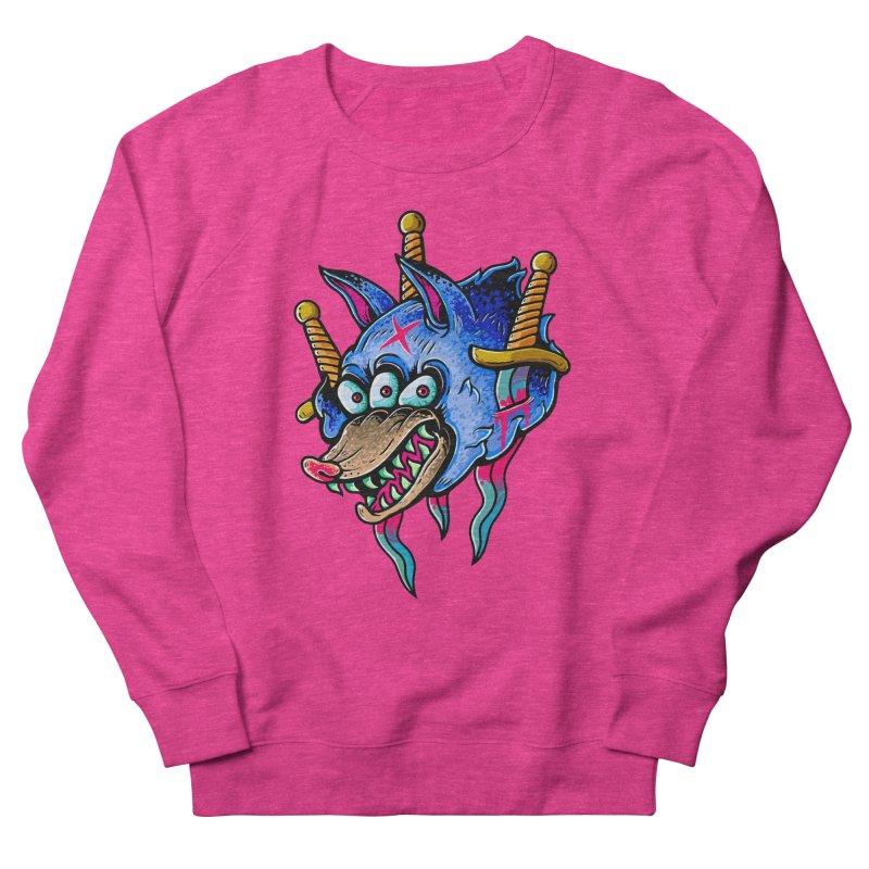 Evil Wolf Women's French Terry Sweatshirt by villainmazk's Artist Shop