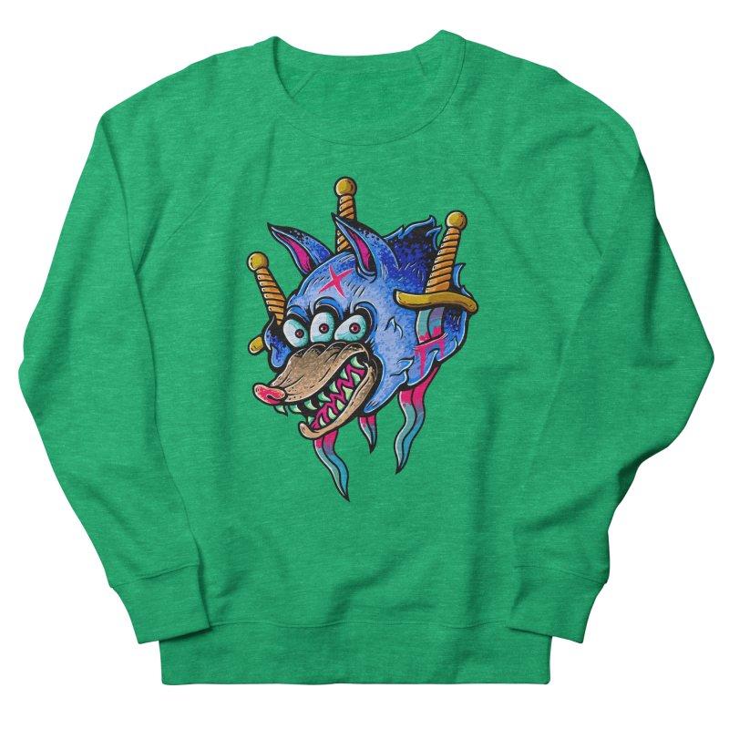Evil Wolf Men's French Terry Sweatshirt by villainmazk's Artist Shop