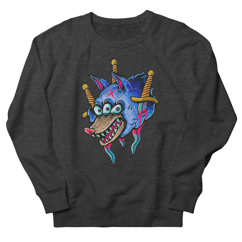 Evil Wolf Men's French Terry Sweatshirt by villainmazk's Artist Shop