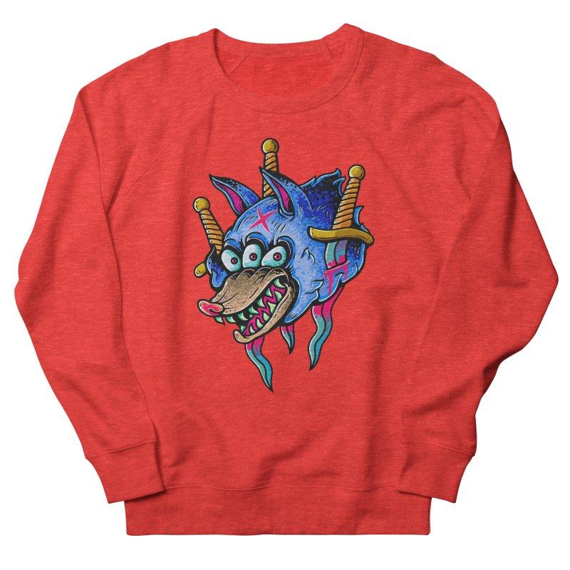 Evil Wolf Men's Sweatshirt by villainmazk's Artist Shop