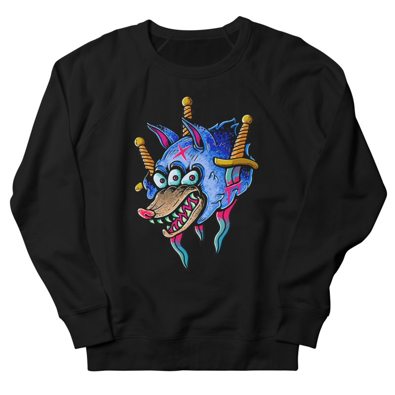 Evil Wolf Men's Sweatshirt by villainmazk's Artist Shop