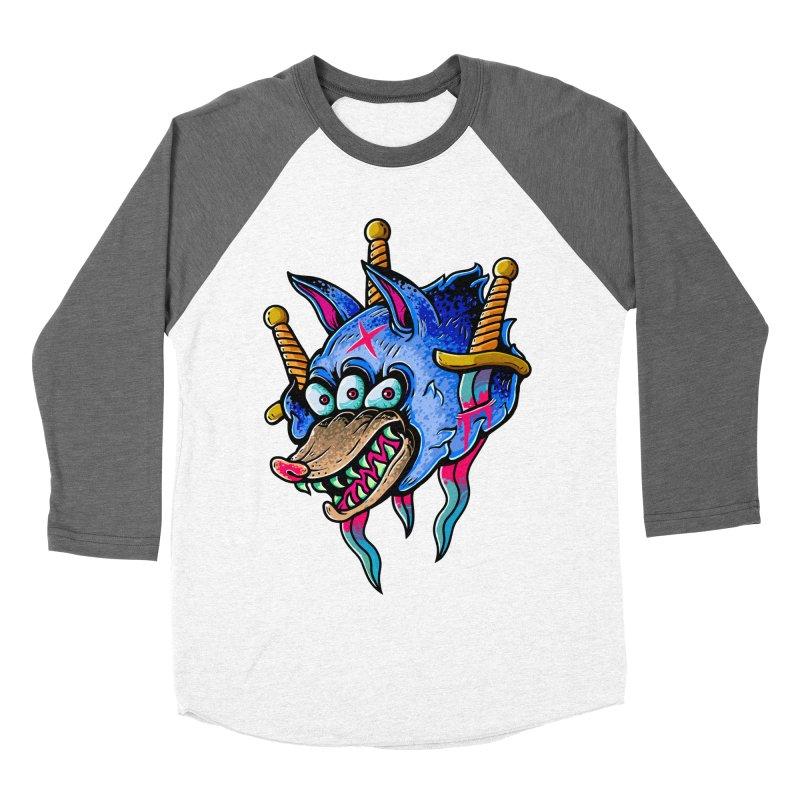 Evil Wolf Women's Longsleeve T-Shirt by villainmazk's Artist Shop