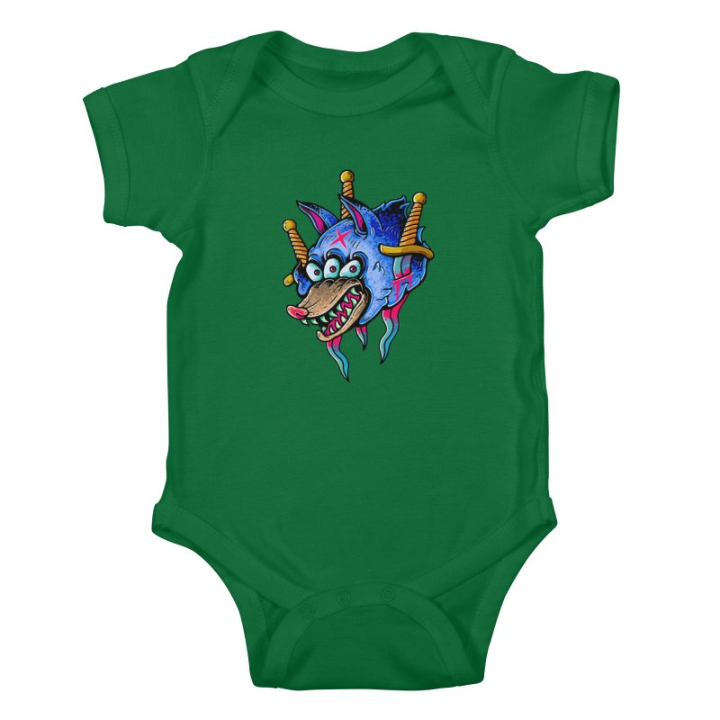 Evil Wolf Kids Baby Bodysuit by villainmazk's Artist Shop