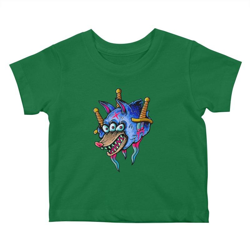Evil Wolf Kids Baby T-Shirt by villainmazk's Artist Shop